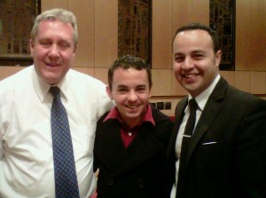 Adam and City Council Member Daniel Dromm & State Assembly Member Fransisco Moya, Western Queens. Danny's run for District Leader was one of my first political races.