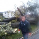 Dan Halloran seen here clearing the debris from Hurricane Sandy.