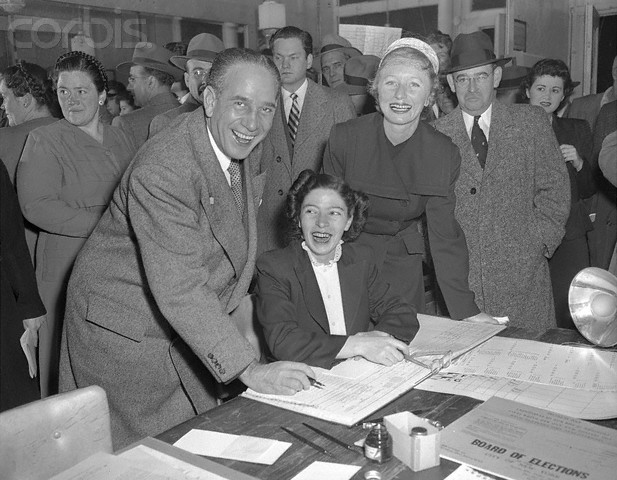 Mayor Candidate Vincent Impellitteri and Wife at Polls Source: Bettmann/CORBIS