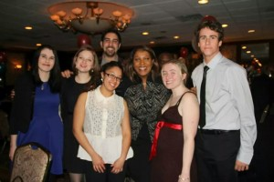 Members of the YLA with Dylan Schwartz (center) and Public Advocate Letitia James (center right) at the Democratic Organization of Richmond County's Annual Dinner.